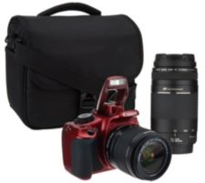 Canon Rebel T5 18MP DSLR Camera w/18-55 & 75-300mm USM Lenses & Accs.