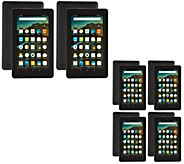 Choice of2-Pack or4-Pack Amazon Fire 7 Tablets Matching Cases & App Bundles - E229634