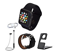 Apple Watch Series 1 38mm or 42mm w/ Extra Band & Accessories - E231534