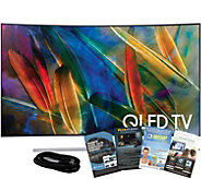 Samsung 55 QLED Smart Curved 4K HDR TV w/ HDMIand App Pack - E291234
