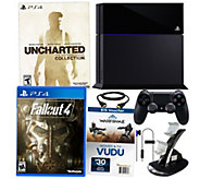 Sony PS4 500GB Uncharted Bundle w/ The Fall Out 4 & App Package - E228635