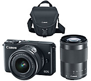 Canon EOS M10 Mirrorless 18MP Wi-Fi Camera w/ 15-45mm STM & 55-200mm Lenses - E229235