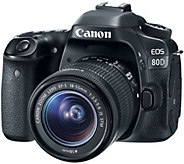 Canon EOS 80D 24.2MP DSLR Camera with 18-55mm Lens - E292635