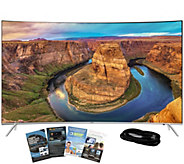 Samsung 55 LED 4K SUHD Curved Smart TV with HDMI & App Pack - E288736