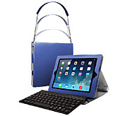 Apple Ipad mini Bluetooth Keyboard Case w/Retractable Carry Case - E225737