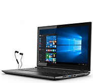 Toshiba 15 Laptop - AMD A8, 1TB HDD, Windows 10 with Earbuds - E285738