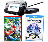 Nintendo Wii U Mario Kart 8 Deluxe Set with Epic Mickey 2 - E287038