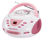 Hello Kitty KT2024A Stereo CD Boombox with AM/FM Radio - E248639