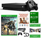 Ships 12/18 Xbox One X 1TB Bundle with Titanfall 2 & Game Pass - E293239