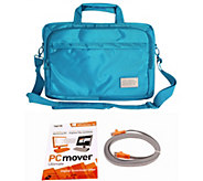 ToteIt! Deluxe 15 Laptop Case w/ Laplink PC Mover Pro, & Transfer Cable - E229640