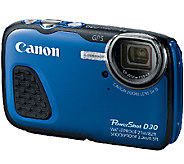 Canon PowerShot D30 12.1MP Waterproof Camera - E277240
