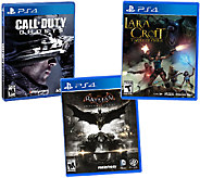 PS4 Game Pack:Batman: Arkham Kinght, COD:Ghosts& Lara Croft - E283840