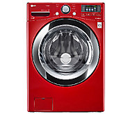 LG 4.3 Cu.Ft. High-Efficiency Front Load Washer-Red - E283940