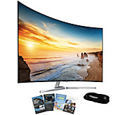 Samsung 55 LED 4K SUHD Curved Smart TV with HDMI & App Pack - E288740