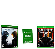 Xbox One Game Pack with Call of Duty III, Halo 5 & Xbox Live - E286041
