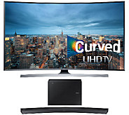 Samsung 55 LED 4K UHD Curved Smart TV w/ Curved Sound Bar - E287242