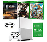 Xbox One S 2TB w/ Sunset Overdrive, Ryse &State of Decay - E289542