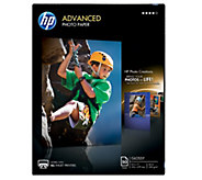 HP Advanced Photo Paper, Glossy, 8.5 x 11 - 50 ct - E290242