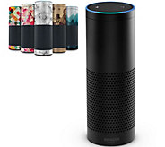 Amazon Echo Speaker w/ 2 Plus Months Music, Audible Books & Skin - E230643