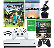 Xbox One S 500GB Minecraft Console Bundle w/ Console Case & Accessoires - E229944