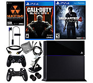 Sony PS4 500GB Call of Duty Black Ops III Bundle & Uncharted 4 - E288644