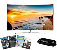 Samsung 65 LED 4K SUHD Curved Smart TV with HDMI & App Pack - E288744