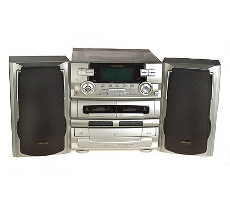 Emerson Stereo w/ 5 CD Changer,3 Speed Turntable & Dual Cassette