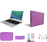 Apple Macbook Air 13 w/ Clip Case, Earbuds KeyboardOverlay & PrinterPix - E230445