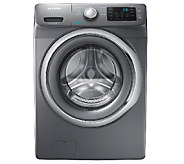 Samsung 4.2 Cu Ft Front-Load Washer w/ Steam-Platinum - E277345