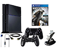 Sony PS4 Watch Dogs Bundle with Charging Dock &Accessories - E277445