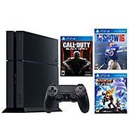 Sony PS4 with Call of Duty, MLB The Show 16, Ratchet and Clank - E288545