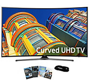 Samsung 49 LED Curved Smart Ultra HDTV with App Pack and HDM - E289245