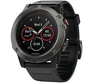 Garmin Fenix 5x 51 Multisport Watch Sapphire Edition with Maps - E293945