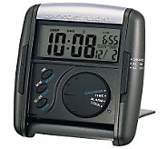 Seiko Get Up and Glow Travel Alarm - Black - E214346