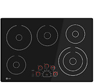 LG 30 Electric Radiant Cooktop with SmoothTouch Controls - E285846