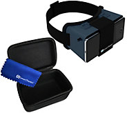SmartTheater Virtual Reality Headset Goggles with Storage Case - E231547