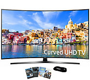 Samsung 65 Curved Smart Ultra HDTV with App Pack and HDMI - E289247
