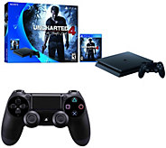 Sony PS4 Slim 500GB Uncharted 4 Bundle with Bonus Controller - E290647