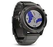 Garmin Fenix 5x Multisport Watch Sapphire Edition with Maps - E293947