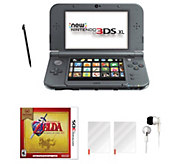 Nintendo 3DS XL with Zelda Game & Accessories -Black - E294047