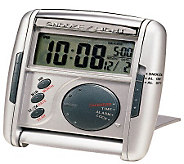 Seiko Get Up and Glow Travel Alarm - Silvertone - E214348