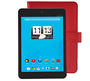 Trio 8 Wi-Fi 8GB Quad Core Tablet with Red Case & Software - E229348