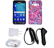 Samsung Galaxy Luna TracFone Smartphone with Case, and 1200 Mins/Texts/Data - E229948