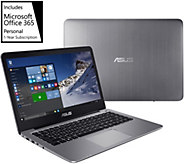 Asus 14.0 Laptop w/ intel processor and 1 year office subscription - E231148