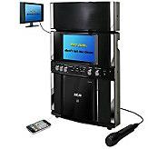 Akai Front-Loading CD Karaoke System w/ Microphone - E272548