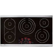 LG 36 Stainless Steel Trim Electric Radiant Glass Cooktop - E285848