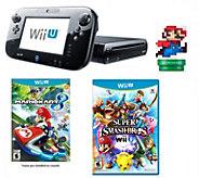Nintendo Wii U w/ Mario Kart, Super Smash Bros. & amiibo - E287448