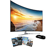 Samsung 65 LED 4K SUHD Curved Smart TV with HDMI & App Pack - E288748
