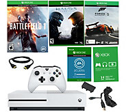 Ships 10/21 - Xbox One S 500GB Battlefield 1 Bundle w/ 3 Games - E289948