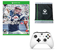 Madden NFL 17 w/ White Wireless Controller & Bag - Xbox One - E290248